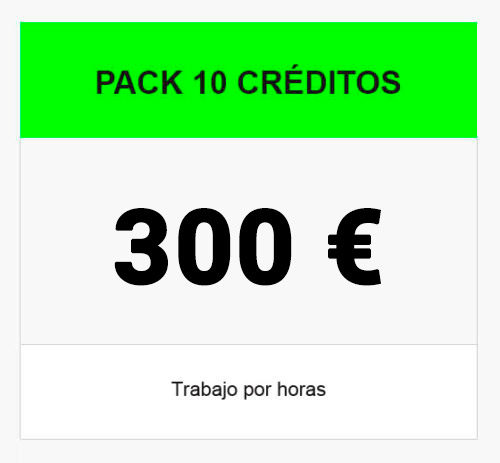 pack 10 creditos 300