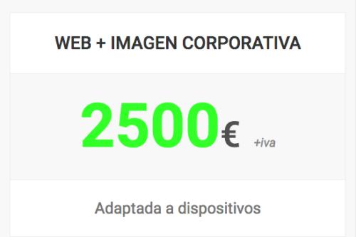 web imagen corporativa shop