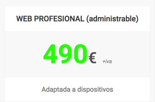 web pro administrable shop 2